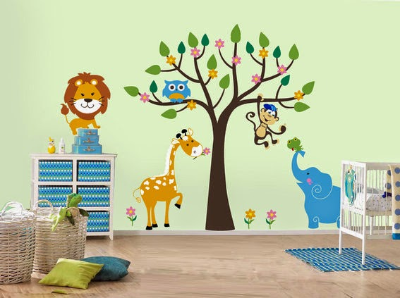 Kids room interior wall decorations